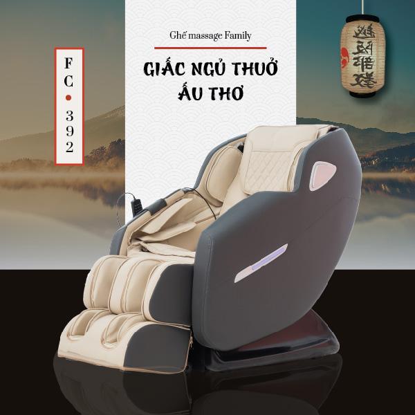Ghế Massage Toàn Thân Cao Cấp Family FC-392 (Giấc Ngủ Thuở Nằm Nôi)
