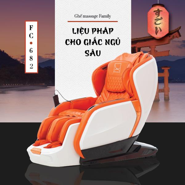 Ghế Massage Toàn Thân Cao Cấp Family FC-682 (Liệu Pháp Cho Giấc Ngủ Sâu)