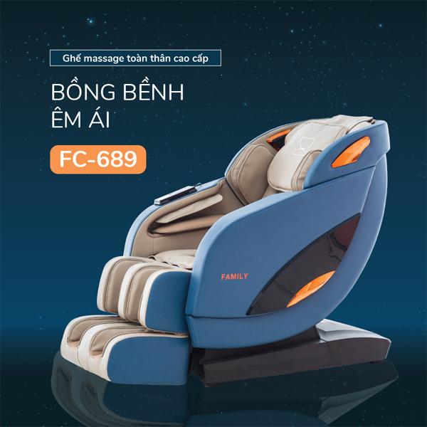 Ghế massage toàn thân cao cấp Family FC-689 (Bồng bềnh thư thái)