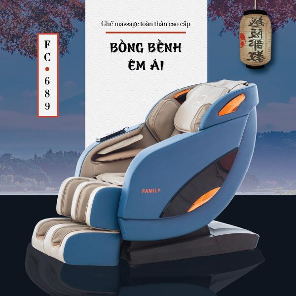 Ghế massage toàn thân cao cấp Family FC-689 (Bồng bềnh êm ái)