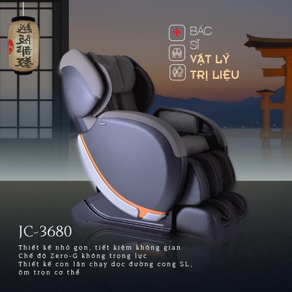 Ghế Massage Tokuyo JC-3680 Made In Japan (Bác Sĩ Vật Lý Trị Liệu)