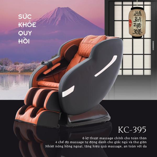 Ghế Massage Toàn Thân 3D KC-395 (Sức Khỏe Quy Hồi)