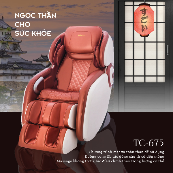 Ghế Massage Nhật Tokuyo TC-675 (Ngọc Thần Cho Sức Khỏe)