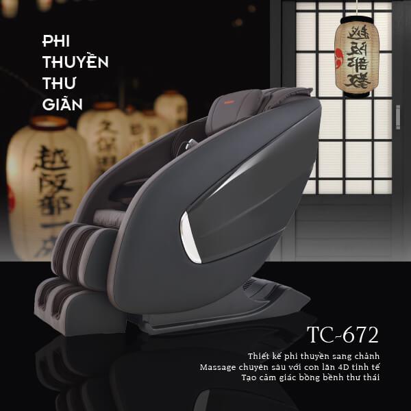 Ghế Massage Toàn Thân Tokuyo TC-672 (Tuyệt Đỉnh Thư Giãn)