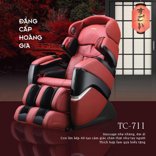 Ghế massage Toàn Thân 4D Plus Tokuyo TC-711 (Đẳng Cấp Hoàng Gia)