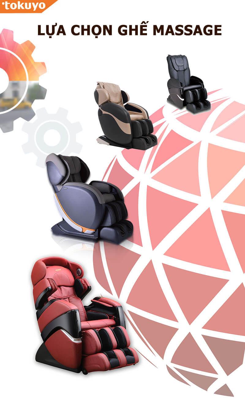 Các loại máy massage hiện phổ biến trên thị trường